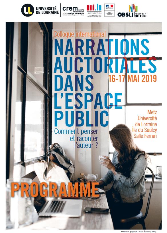 Colloque : narrations auctoriales dans l'espace public : comment penser et raconter l'auteur ?