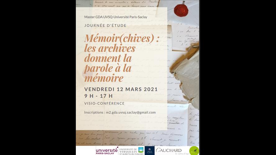 Mémoir(chives), les archives donnent la parole à la mémoire