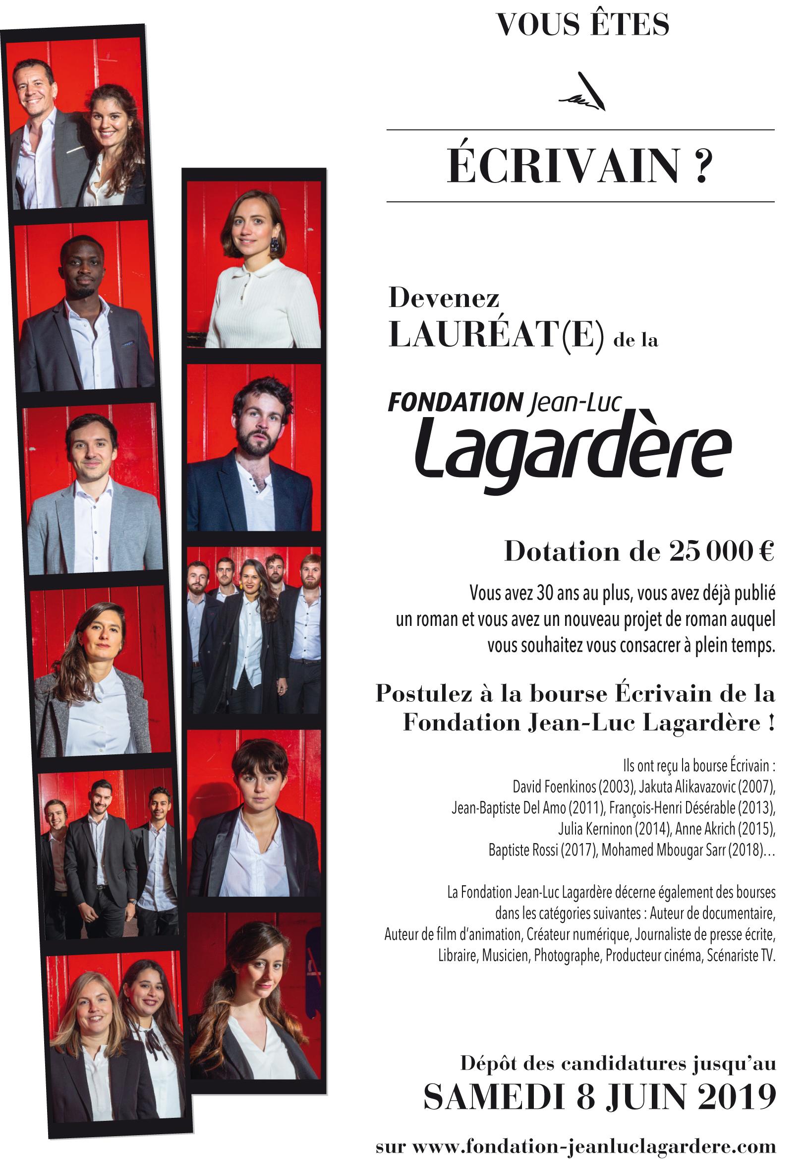 Devenez lauréat de la fondation Jean-Luc LAGARDÈRE !