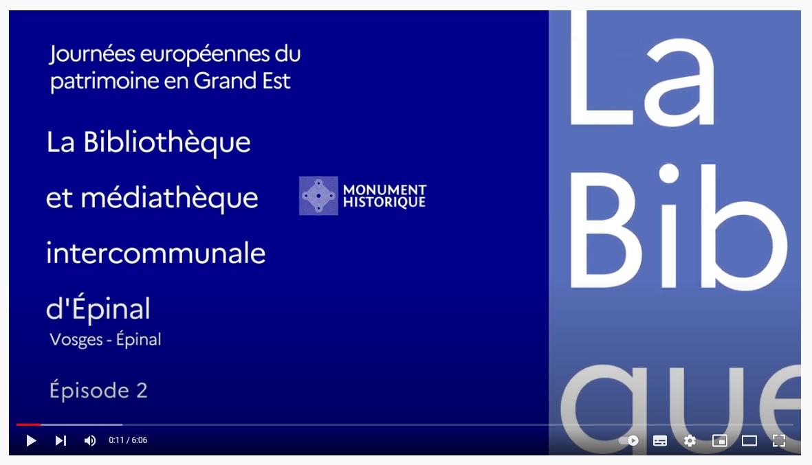 La BMI d'Epinal à l'honneur à l'occasion des JEP !