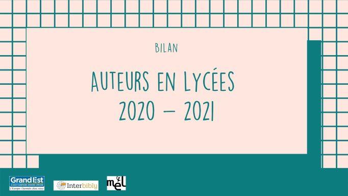 Auteurs en lycées 2020-21_Bilan de l'opération