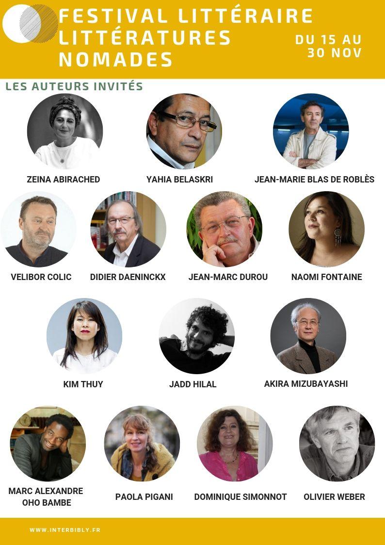 Festival 2019 : les auteurs