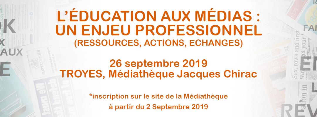 L'éducation aux médias : un enjeu professionnel (ressources, actions, échanges)